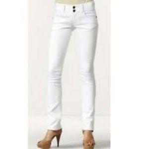 CAbi #763 White Lou Lou Straight Leg Jeans 14 EUC